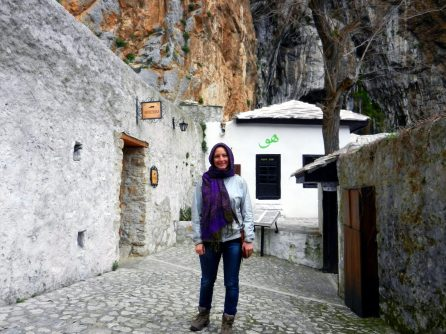 Ashleigh, Dervish Monastery, Blagaj, Bosnia and Herzegovina